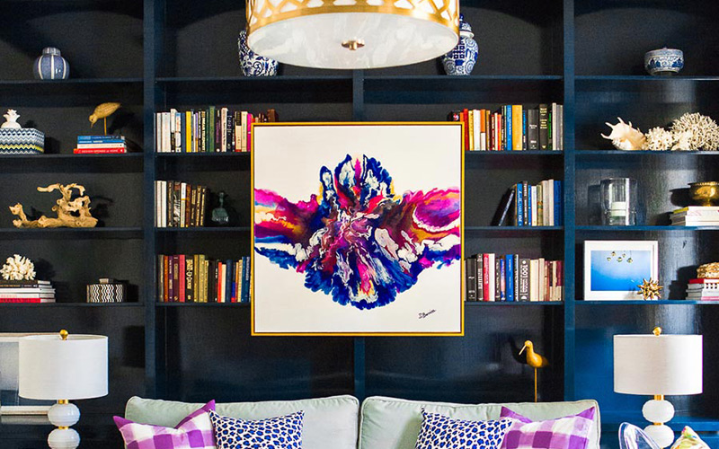 Colorful Eclectic Glam Living Room