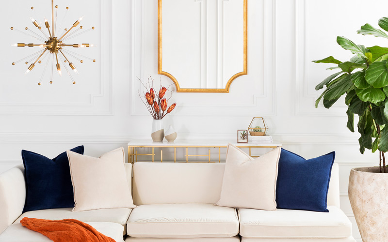 Coastal Glam Living Room
