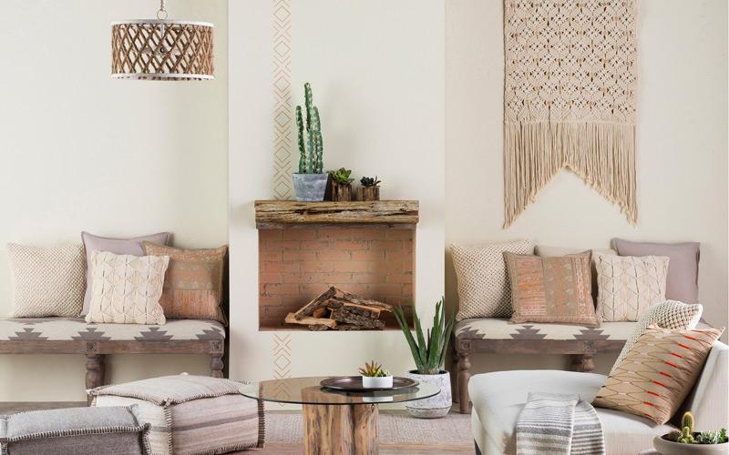 Boho Southwestern Neutrals Living Room