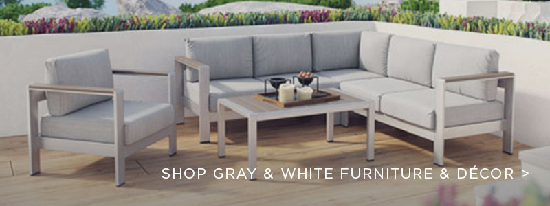 Gray & White Furniture & Decor