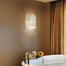 Veneto Luce Brushed Nickel LED Cylindrical Finial Wall Sconce With Lace  Glass