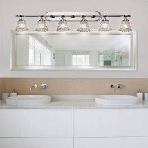 Veneto Luce Polished Chrome Six Light Bath Bar
