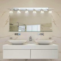 Superieur Clouds Polished Chrome Six Light Bath Bar