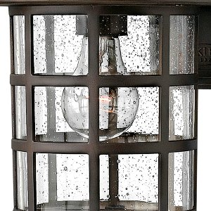 Seeded Glass Outdoor Light