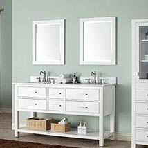 White 24 Inch Beveled Edge Rectangular Mirror