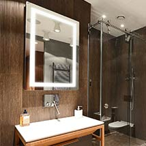 30x36 Horizontal/Vertical Wall Mounted Backlit Vanity Bathroom LED Mirror  With Touch On/OFF