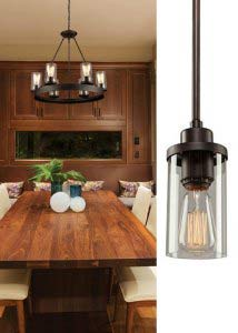 Dark Chocolate Six Light 26 Inch Wide Chandelier