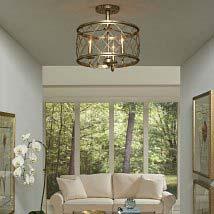 Flush semi flush ceiling lighting bellacor silver leaf three light semi flush mount aloadofball Images