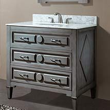 Bathroom Vanities On SALE Bellacor - 36 inch grey bathroom vanity