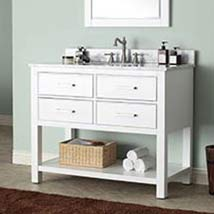 White 42 Inch Vanity Only Bathroom