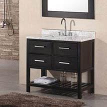 Ondon Dark Espresso 36 Inch Single Bathroom Vanity