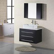 Elton Dark Espresso 30 Inch Wall Mount Bathroom Vanity