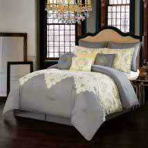Italia Dolce Milan Grey Ten-Piece Queen Comforter Set