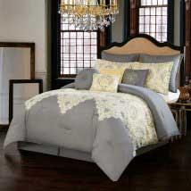 Italia Dolce Milan Grey Ten-Piece Queen Comforter Set