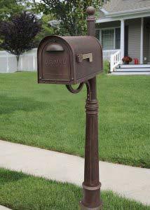 Unique mailbox post Unusual Classic Copper Curbside Mailbox With Ashland Mailbox Post Unit Grupoexpertco Decorative Mailboxes Unique Residential Mailboxes Bellacor