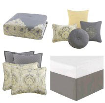 Comforter set pillows