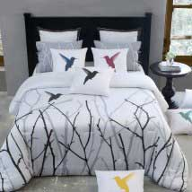 Transitional designer bedding