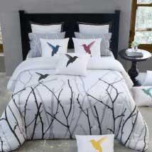 Transitional designer bedding
