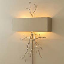 Wall sconces up to 50 off crystal brass modern more on sale nickel twig two light hardwired wall sconce aloadofball Choice Image