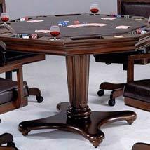 Gentil Ambassador Rich Cherry Octagon Game Table