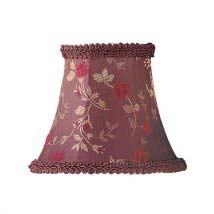 chandelier shades clip on. floral print bell clip chandelier shade w/ fancy trim on shades u