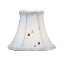 Chandelier shades on sale bellacor white embroidered floral silk bell clip chandelier shade aloadofball Images