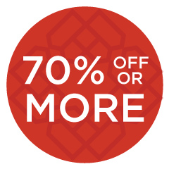 70% off or more