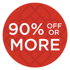 90% off or more
