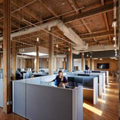 Our office is designed for collaboration, creativity and community. -